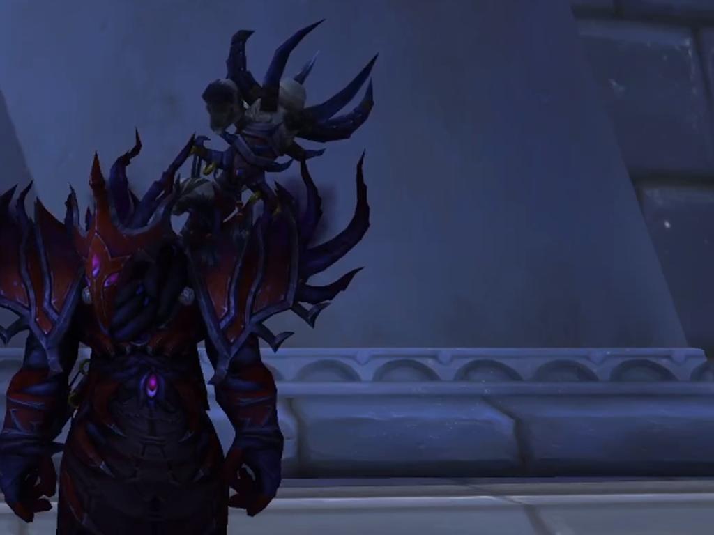 Hier wäre ein netter Hexenmeister zu sehen der leider sehr traurig ist. Aufgrund diverser Bugs und Probleme musste er sein Spiel World of Warcraft neu installieren...
